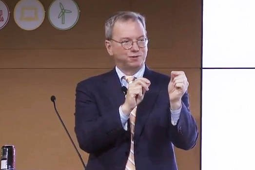 Google chairman Eric Schmidt, speaking at the 'How Green Is the Internet Summit'