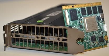 The Tegra 3 ARM board and Tesla K20 GPU powering Pedraforca