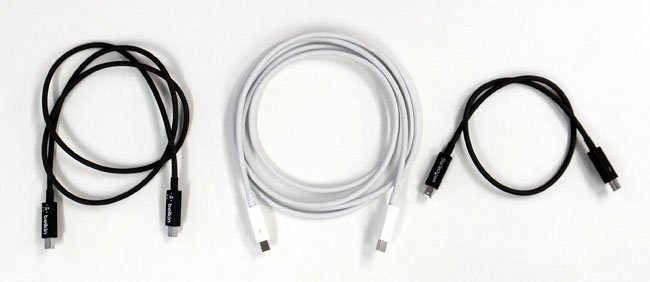 Thunderbolt cables from Belkin, Apple and StarTech