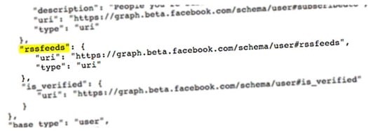Possible Facebook RSS code