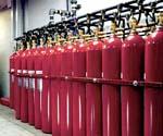 Inergen gas bottles