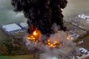 Buncefield fire scene