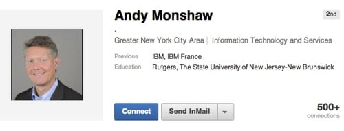 Andy Monshaw on Linked