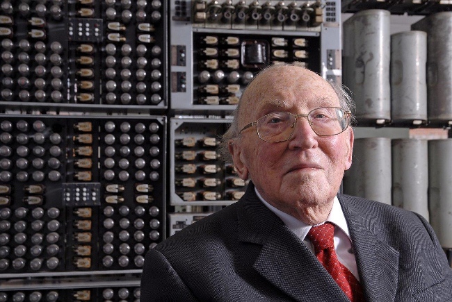 Sir Maurice Wilkes, photo The National Museum of Computing