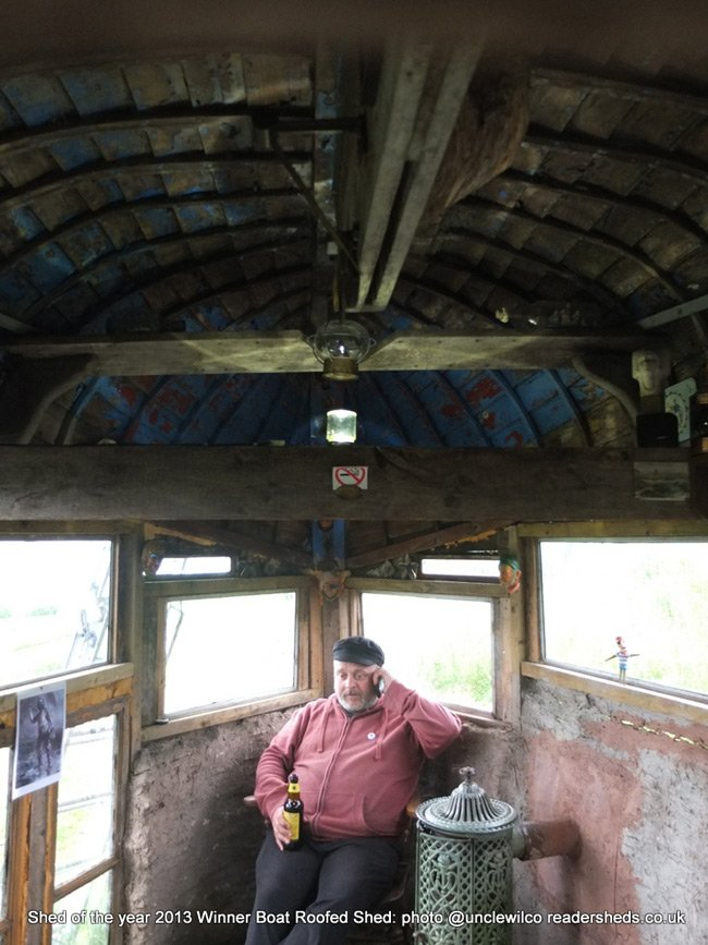 Alex Holland in his winning shed