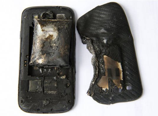 The remains of Fanny Schlatter's Samsung Galaxy S3