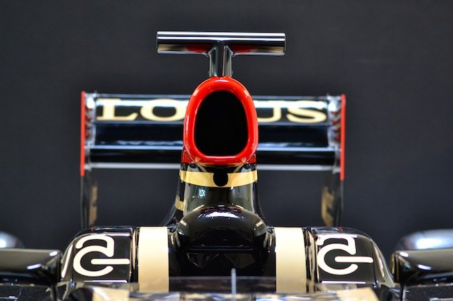 Lotus F1 car head view