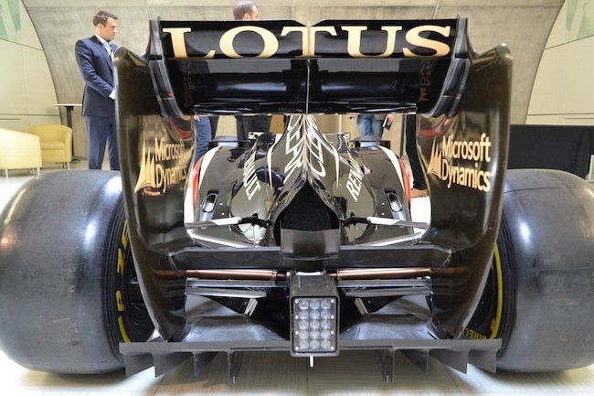Lotus F1 car rear view