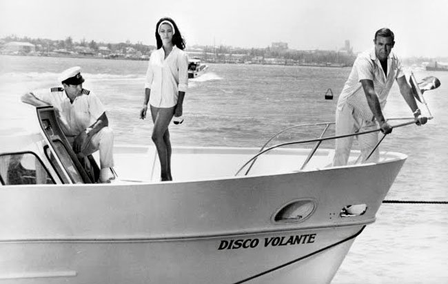 James Bond Thunderball on board the Disco Volante