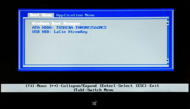 Lenovo ThinkPad Helix convertible Ultrabook Boot Menu