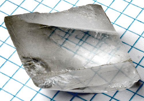 Calcite crystal birefringence. Image via Wiki