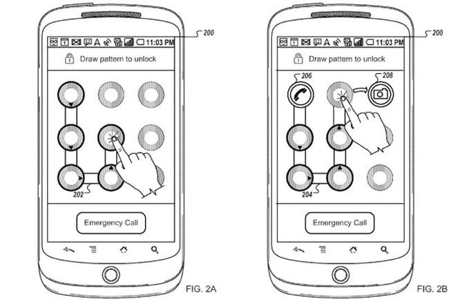 Google's unlock to app patent