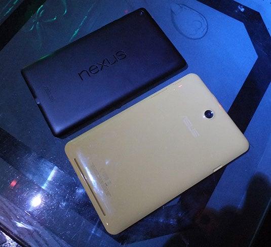 Google Nexus 7 2 and Asus MeMo Pad HD 7 backs