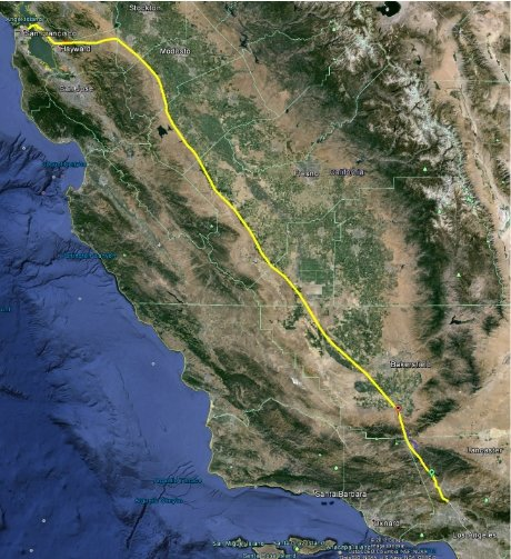 Hyperloop route map
