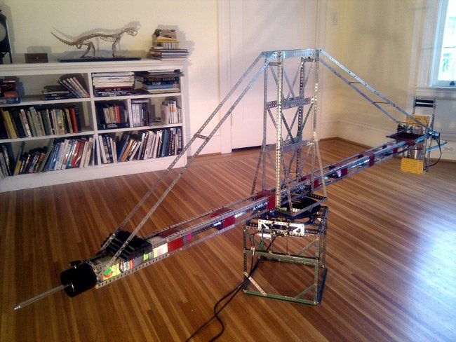 The mighty Meccano centrifuge. Pic: Neil Fraser