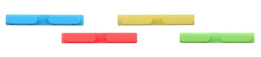 Purported iPhone 5C volume buttons in blue, red, yellow, and green