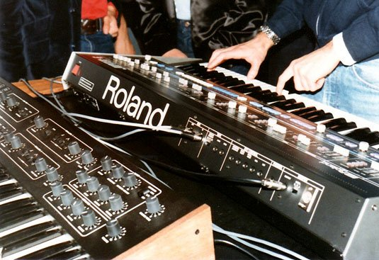 NAMM Show 1983 MIDI demonstration