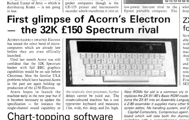 Acorn Electron in Your Computer