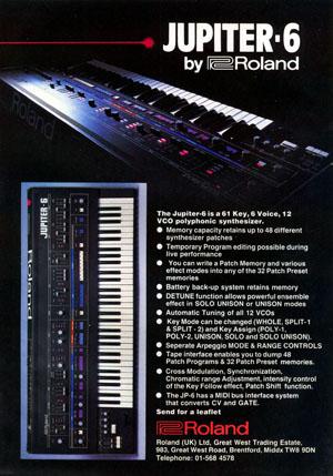 Roland Jupiter-6 MIDI synthesiser