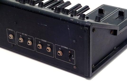 Yamaha CS10 monophonic synthesizer CV and gate interfacing