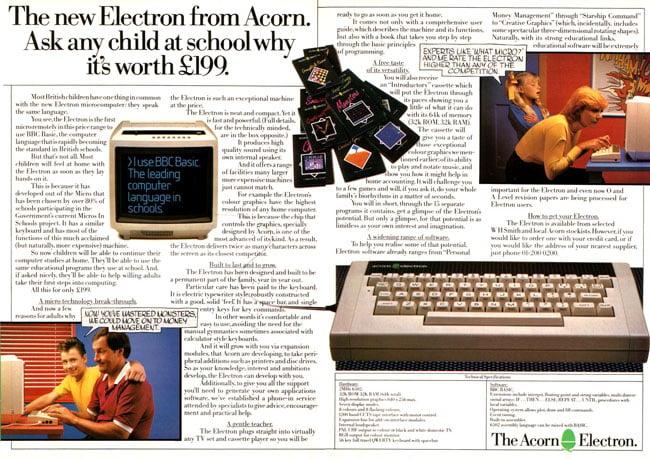 Acorn Electron ad