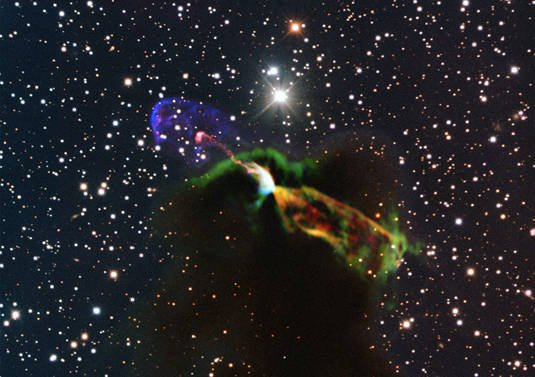 Herbig-Haro 46/44 as imaged by ALMA
