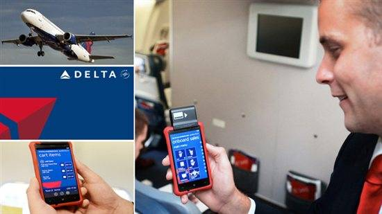 Delta Air Lines' Nokia Lumia 820 running Windows Phone 8
