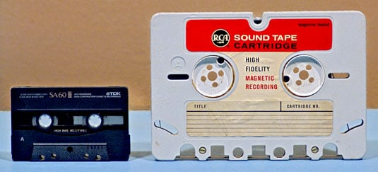 Compact Cassette meet RCA Sound Tape Cartridge