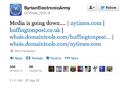 Syrian Electronic Army threat tweet