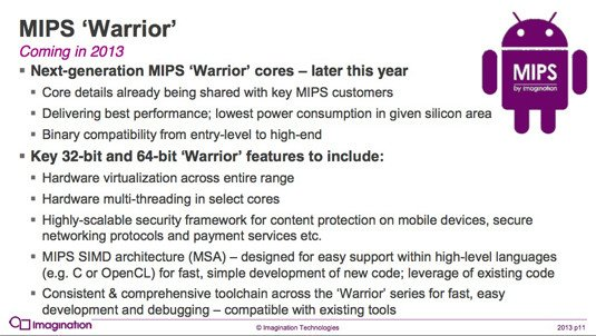 Imagination Technologies 'Warrior' computer core