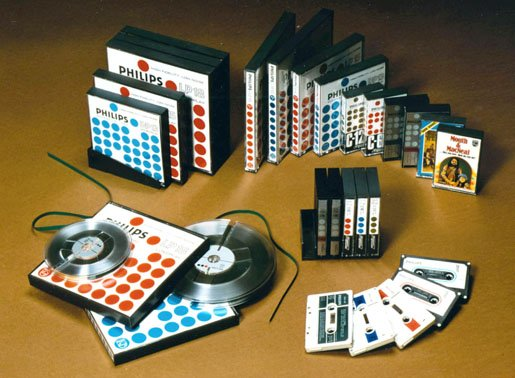 Philips Musicassettes and other tape media from 1965