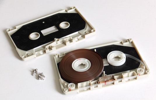 TDK compact cassette innards
