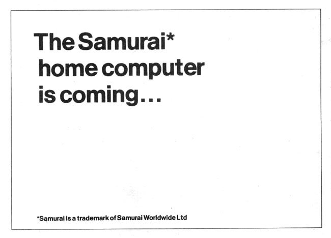 Samurai computer ad