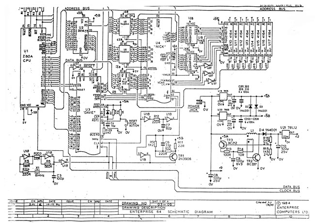 Enterprise 64 system schematic