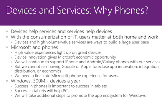 Slide 15 in Microsoft's Nokia acquisition deck