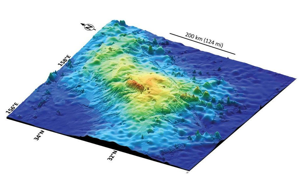 The Solar System's second-largest volcano found hiding on ... Pacific Ocean Underwater Map