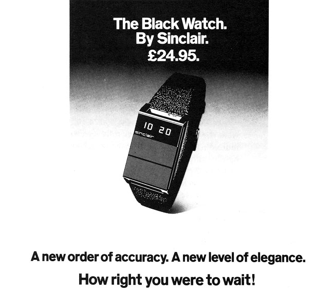 Sinclair digital watch ad