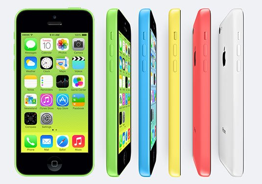 Photo of Apple iPhone 5C in a range of colors