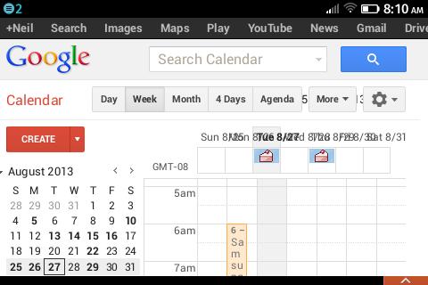 Screenshot showing weird web rendering in Firefox OS