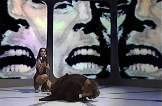 Screenshot from Doctor Who serial 'The Face of Evil'