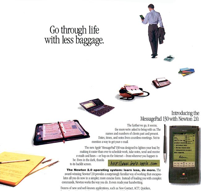 Apple MessagePad 130 ad