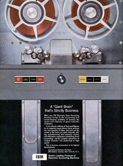 IBM 702 data processor advertisement