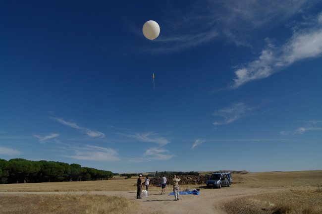 The balloon just before launch