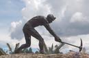 Miner sculpture