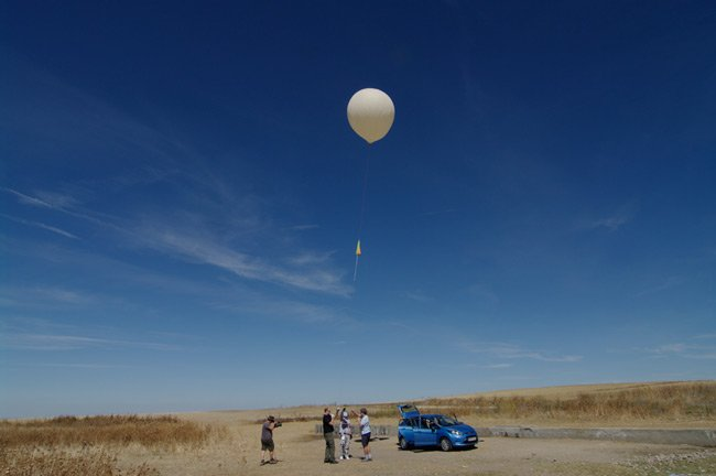 A view of the second LOHAN launch last week