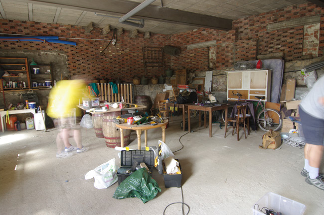 The interior of the temporary LOHAN workshop