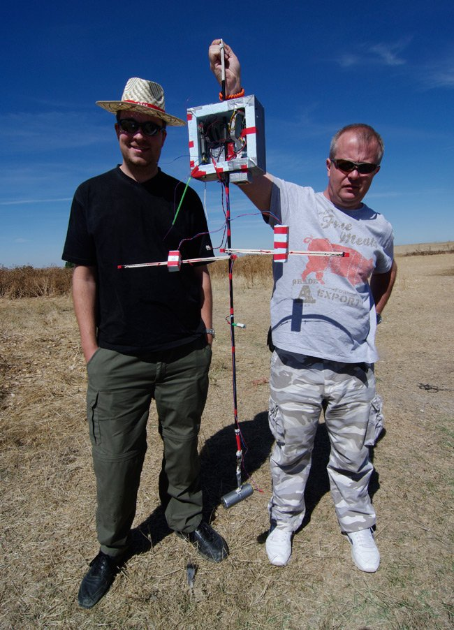 Rob and Paul with the recovered payload