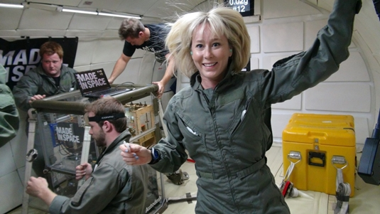 Testing zero G printing in space