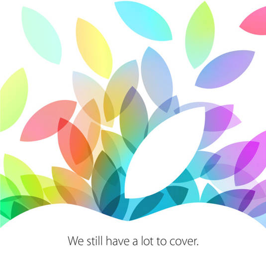 Invitation for Apple's October 22, 2013 product-rollout event