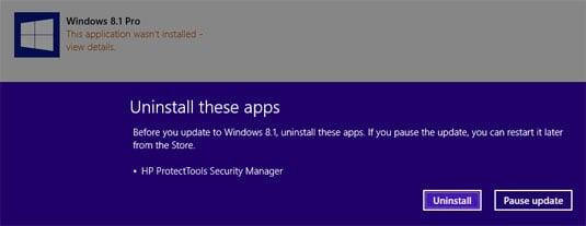 Windows 8.1 update uninstal apps